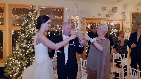 A toast to the newlyweds