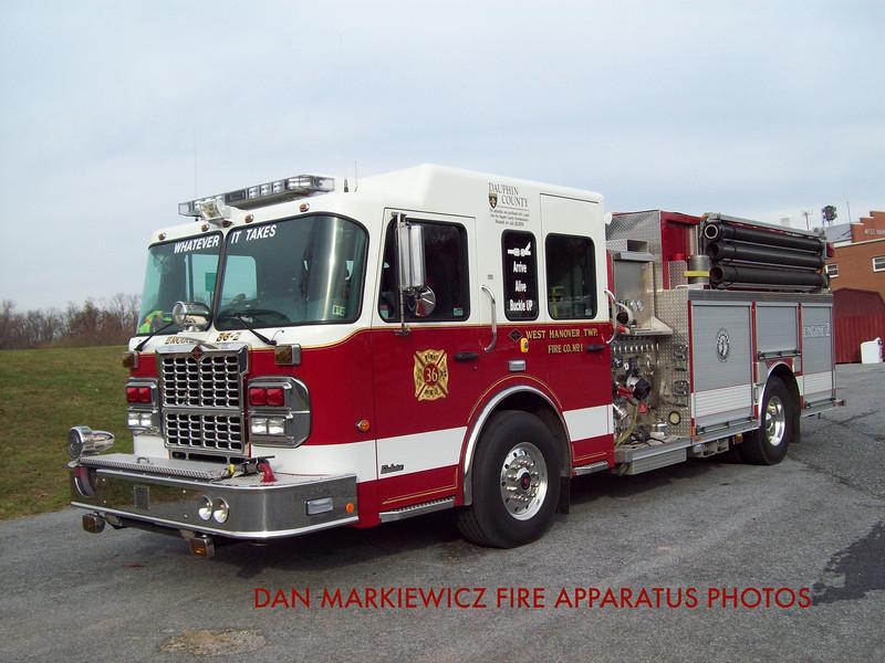 WEST HANOVER TOWNSHIP FIRE CO. ENGINE 36-2 2010 SPARTAN/ROSENBAUER PUMPER