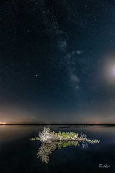"""Milky Way vs. Moon"""