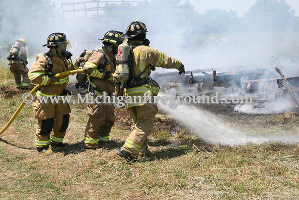 6/9/12 - Delhi Twp haywagon fire, 2718 Lamb Rd
