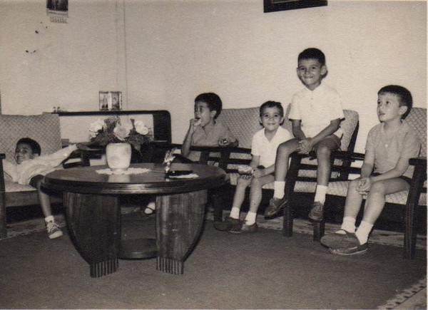 1964-Andrada -  Aniversario Álvaro Figueiredo  - Rui Canas, Álvaro Figueiredo(8), Arlindo, Carlitos Ze' Santos, Chico Figueiredo