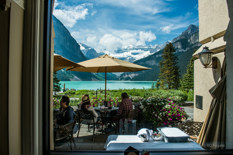 We had lunch in the restaurant and this was our view from the dinning room.