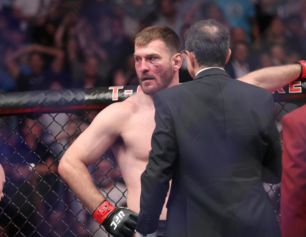 . Tim Phillis - The News-Herald UFC 226 on July 7, 2018, in Las Vegas. Stipe Miocic.