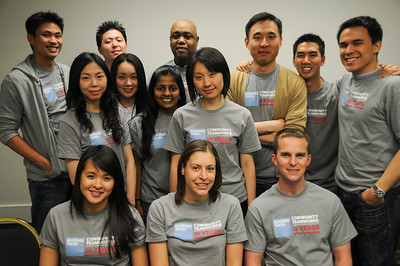 The Goldman Sachs Community Teamworks team which helped facilitate the conference throughout the day.