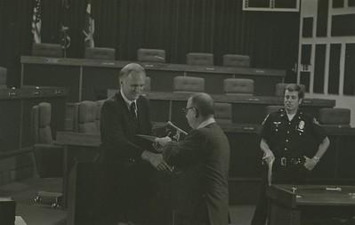 Mayor Hudnut Presents IPD Awards at City-County Council Chamber, Circa 1977, Img. 3