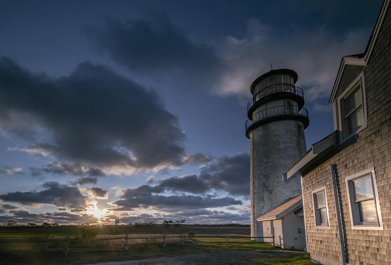 Highland Lighthouse sunrise horizontal