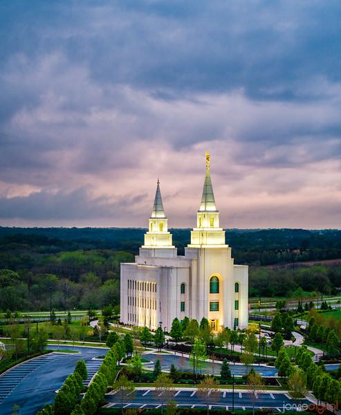 Kansas City Temple - Spring storms