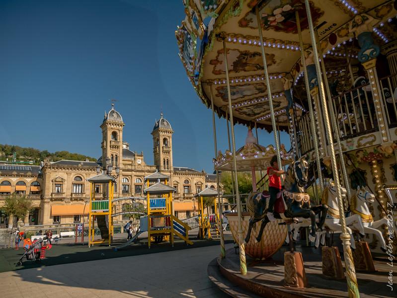 Playing in San Sebastian