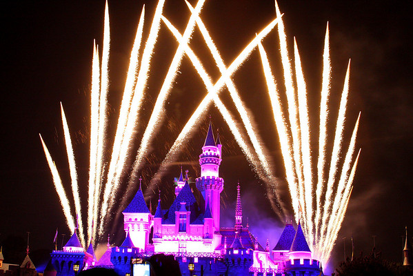 Fireworks at Disneyland California