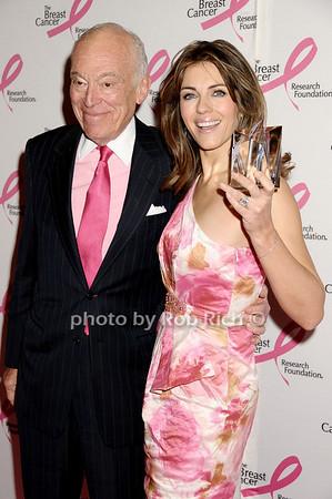 Leonard Lauder, Elizabeth Hurley photo by Rob Rich © 2009 robwayne1@aol.com 516-676-3939