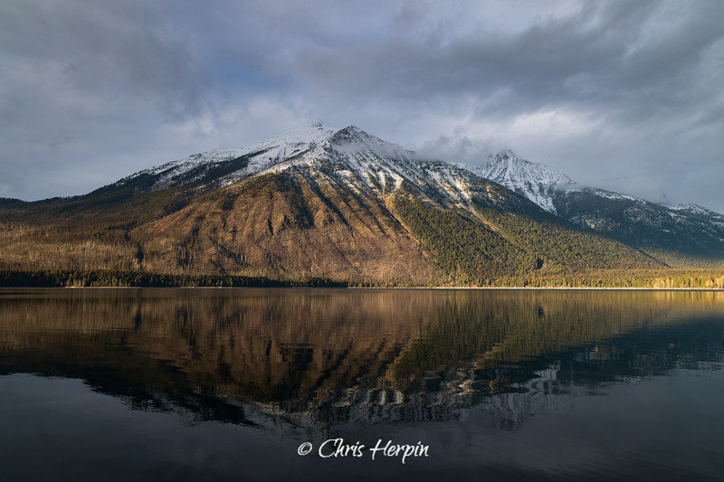 Stanton Mountain at Lake McDonald, Glacier National Park - Montana