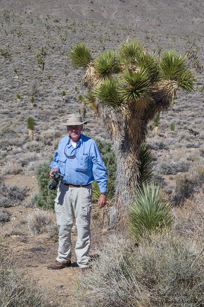 John with the Joshua Tree - Near Big Pine, CA, USA