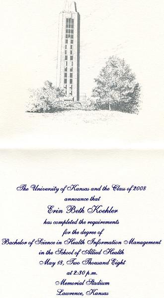 Erins Graduation from KU