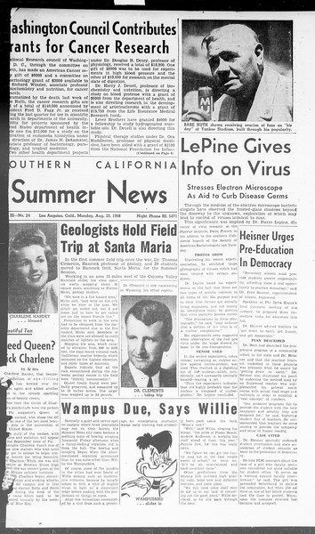 Summer News, Vol. 3, No. 24, August 23, 1948