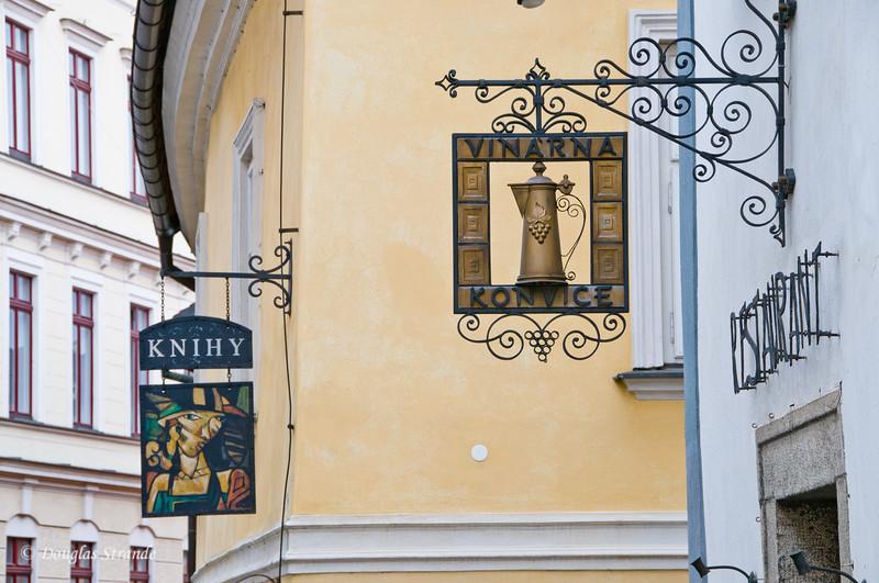 Business Signs in Cesky Krumlov