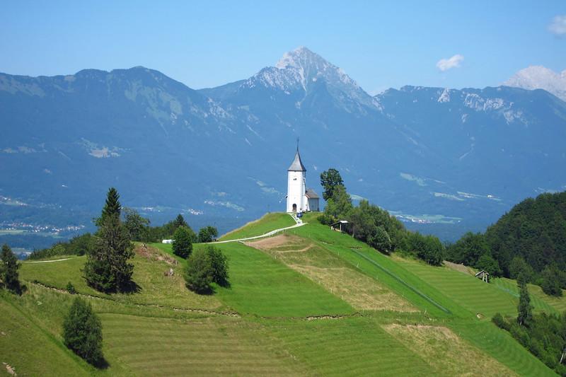 Church and Julian Alps