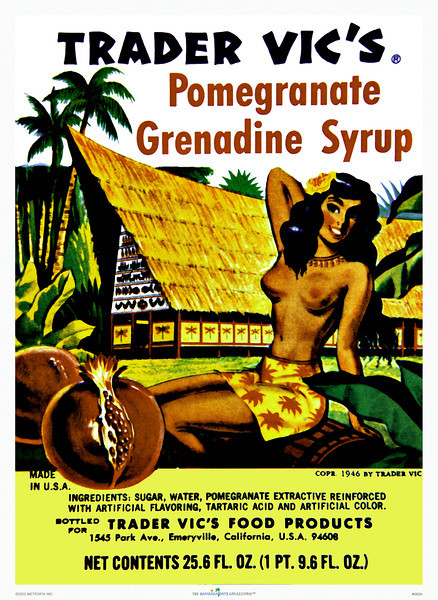 060: Syrup label. There's also a 'covered-up' version of this label, which we have yet to locate. Hawaiian Vintage Product Label, 1946