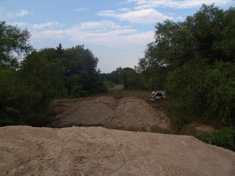 Ramps for bridge crossing Farmer's Creek