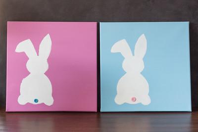DIY Easter Bunny Canvas Wall Art