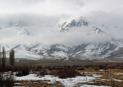 Winterscapes III--Ruby Mtns & Lamoille Canyon