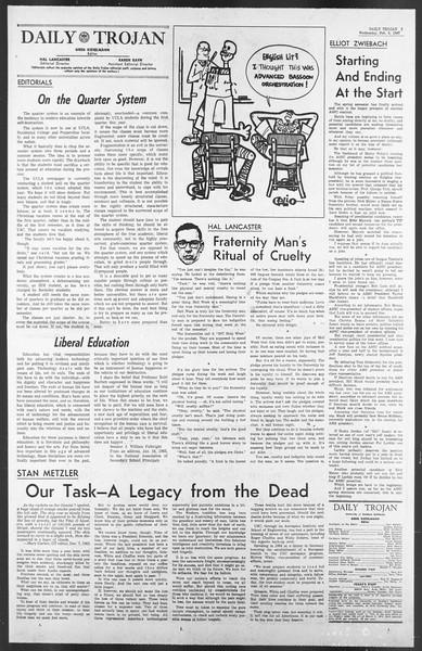 Daily Trojan, Vol. 58, No. 66, February 08, 1967