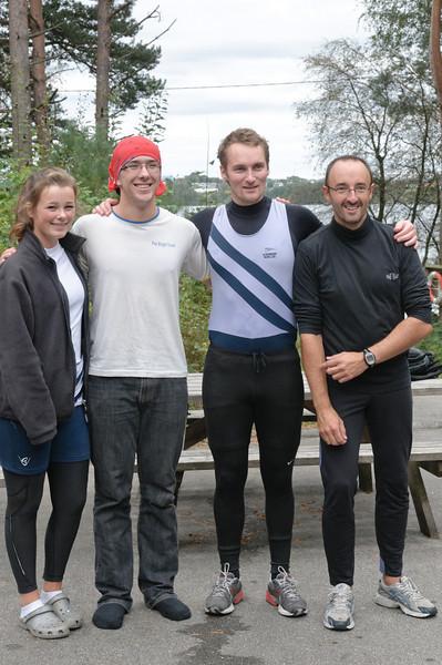 Astrid, Ludwig, Arne og Jean Francois kom på andre plassen.