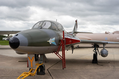 The collection s Hawker Hunter XL565 which is also operational and takes part in fast taxi demonstrations through out the year