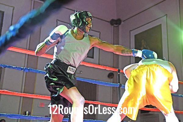 Bout 1 Travis Charles, Blue Gloves, Canton BC -vs- Brian Cotts, Red Gloves, Bulaboxing, Ashtabula, 152 Lbs, Sub-Novice
