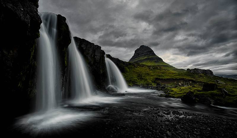 Kirkjafell mountain and falls, Iceland
