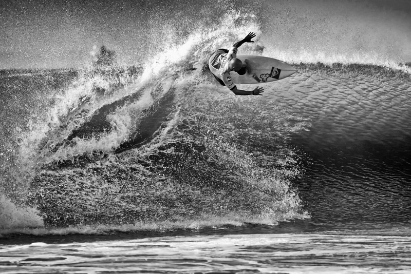 On the Lip - Kelly Slater (B/W)