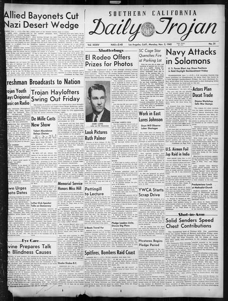 Daily Trojan, Vol. 34, No. 31, November 02, 1942