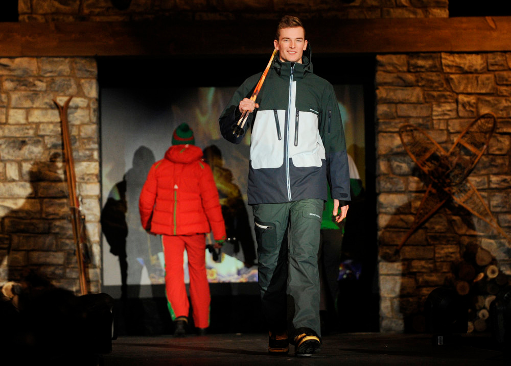. Sport Obermeyer ski gear as the SIA Snow Show hosted its 2013 Snow Fashion & Trends Show at the Colorado Convention Center  in downtown Denver  on Wednesday, January 30, 2013.  (Photo By Cyrus McCrimmon / The Denver Post)