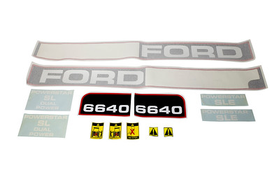 FORD 6640 SERIES BONNET DECAL SET