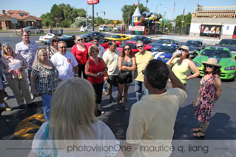 We meet at McDonald's in Lodi for the start.  Glen hands out directions for the drive.