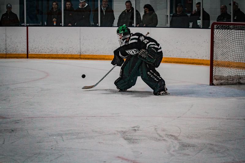 Holy Family Boys Varsity Hockey vs. Elk River, 12/27/19: Dylan Halliwill '21 (29)