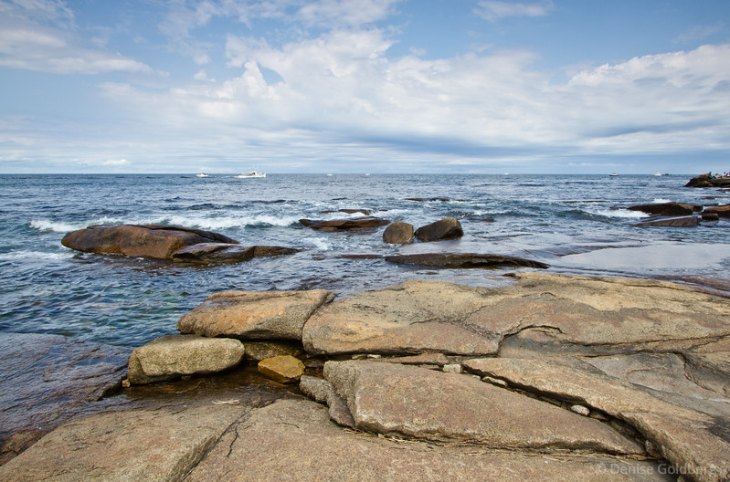 calm ocean, at Halibut Point State Park