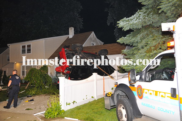 LEVITTOWN FD O/T ONTOP OF TWO CARS GARDINERS AVE 6-18-11