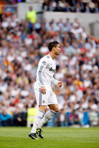 Cristiano Ronaldo, UEFA Champions League Semifinals game between Real Madrid and FC Barcelona, Bernabeu Stadiumn, Madrid, Spain