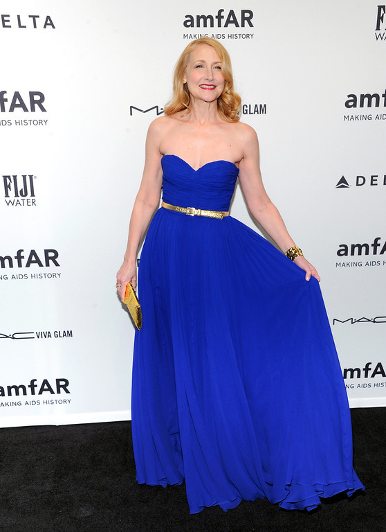 . Actress Patricia Clarkson attends amfAR\'s New York gala at Cipriani Wall Street on Wednesday, Feb. 6, 2013 in New York. (Photo by Evan Agostini/Invision/AP)