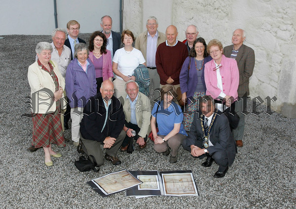 Mayor Michael Carr is pictured with Clare Foley Environment and Heritage services and members of the Historic Monuments council during a visit to Bagenal's Castle. 06W35N7