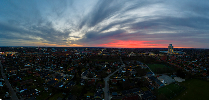 Sunset over Herlev Hospital