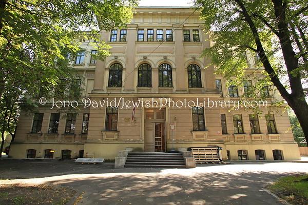LATVIA, Riga. Jewish School. (8.2011)