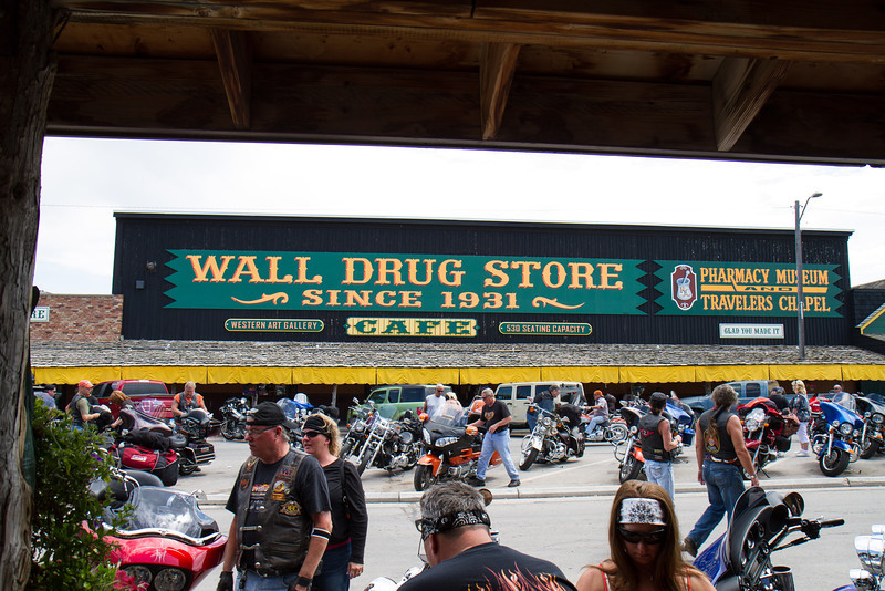 Wall Drug and Bikers