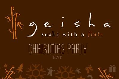 Geisha Sushi Christmas Party 12/23/14