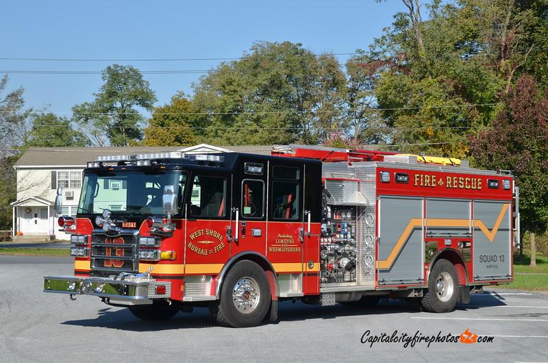 West Shore Bureau of Fire, Lemoyne Squad 13: 2017 Pierce Enforcer 1500/650/30A/20B