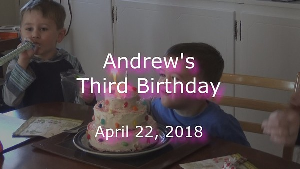 Andrew's 3rd Birthday