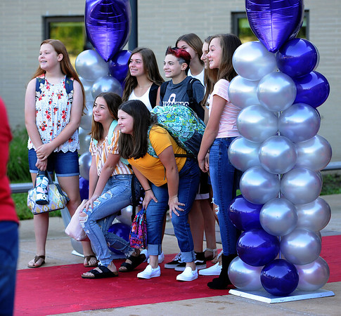 9/3/2019 Mike Orazzi | Staff Students at the West Bristol School on the first day of school Tuesday morning in Bristol.