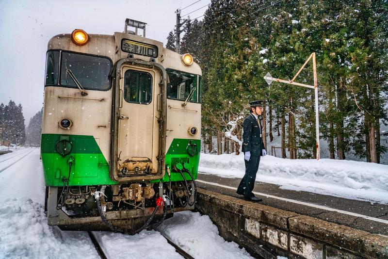 The TD Tadami Line in Aizuwakamatsu, Fukushima Prefecture