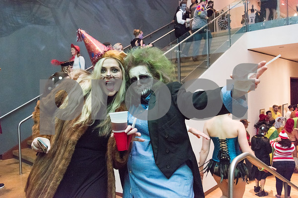 10/27/17 Wesley Bunnell | Staff The New Britain Museum of American Art held their Museum After Dark 11th Annual Halloween Bash on Friday evening. Party animal Shannon Cerruto and Beetlejuice Marlena Siracusa.