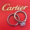 0.78ct Round Brilliant Diamond Bridal Set by Cartier 12